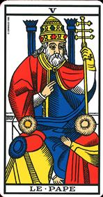Signification de la carte de tarot le Pape