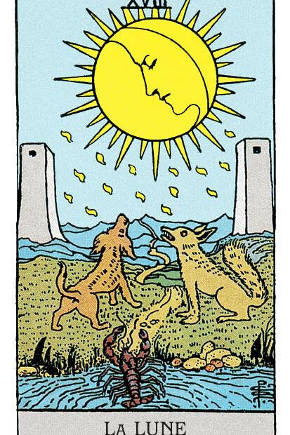 signification de la lune au tarot