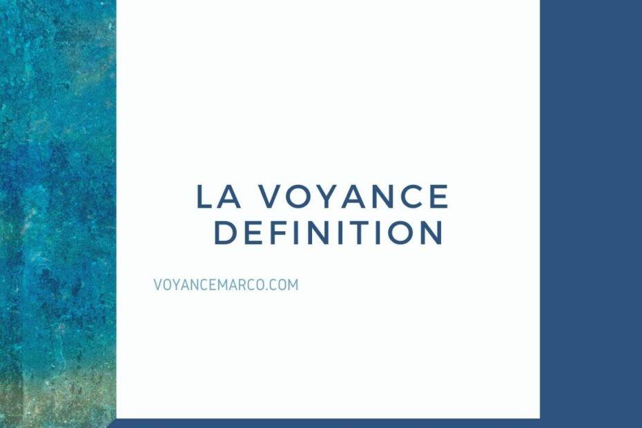 voyance definition