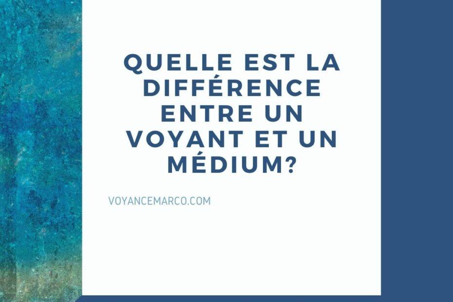Quelle Est La Différence Entre Un Voyant Et Un Médium?