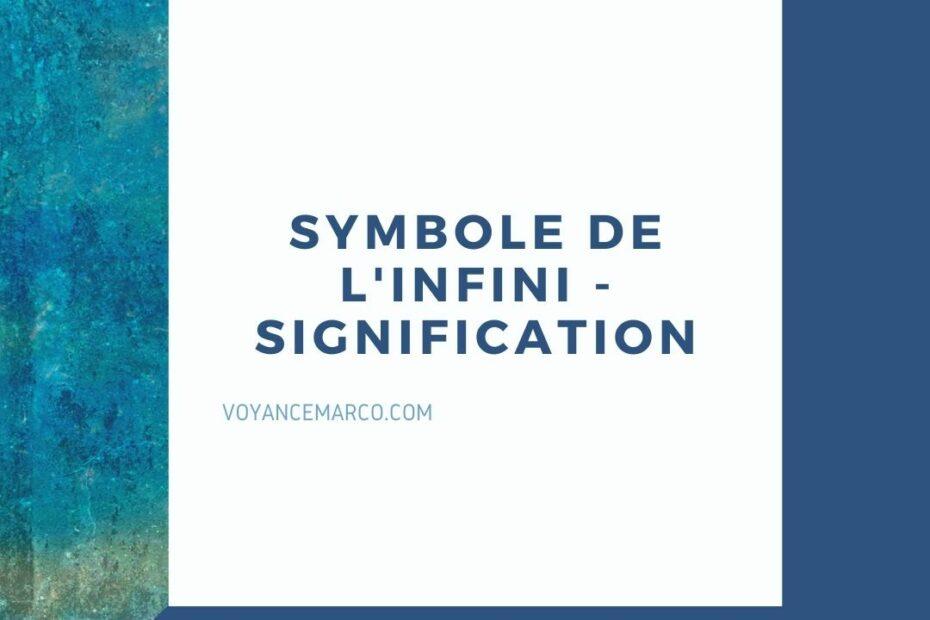 symbole de l'infini - signification esoterique